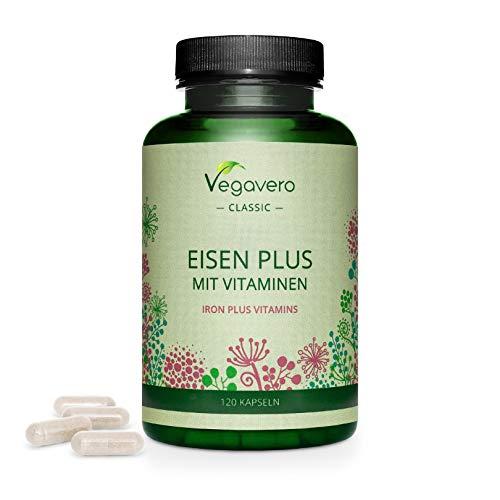Hierro Vegavero® | Apto Para Veganos | 14 mg=100% CDR | Con Vitamina...