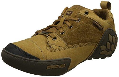 Woodland Men's Camel Leather Sneakers - (8 UK)
