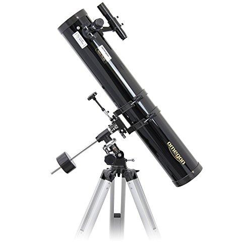 Omegon Telescopio N 114/900 EQ-1 telescopio Reflector con una Apertura de 114 mm y una Distancia Focal de 900 mm