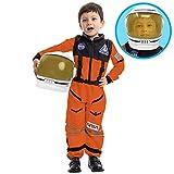 Spooktacular Creations Astronaut Orange Costume with Helmet (Small)