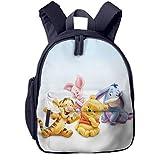 JKSA Anime de dibujos animados Winnie the pooh Mochilas para niños Mochilas escolares para niños y niñas Mochila preescolar Mochila linda de dibujos animados diseñada para jardín de infantes, preescol