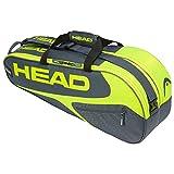 Head Elite 12R Monstercombi Bolsa de Tenis, Adultos Unisex, Gris/Neon Amarillo