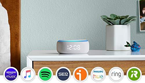 Echo Dot (3.ª generación) - Altavoz inteligente con reloj y...