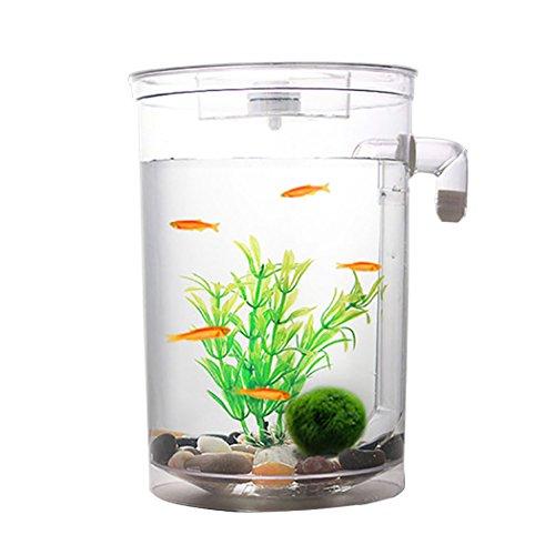 Legendog 魚 水槽 LED 稚魚 隔離ボックス 繁殖用 グッピー 孵化場 熱帯魚 産卵箱 観賞魚 水族館アクセサリ用 プラスチック 透明