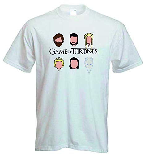 DrMugCollection Camiseta Juego de Tronos Faces (XL)
