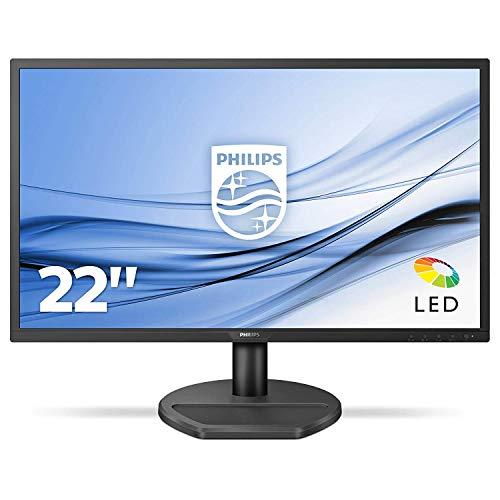Philips - MMD Monitors Italia Gaming Monitor 221S8LDAB, 22' LED, Full HD, 1 ms, Casse Audio Integrate, HDMI, DVI, VGA, Low Blue Light Protezione Occhi, Flicker Free, VESA, Nero