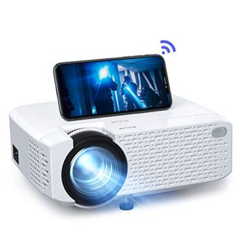 Mini WiFi Projector, Crosstour Video Projector with Synchronize Smart Phone Screen, 3500 lumens Full HD 1080p Supported, Compatible with TV Box/PC/PS4/HDMI/VGA/TF/AV/USB/Smartphones