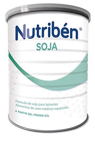 Nutribén Leche de Soja Leche en polvo de Soja sin lactosa para bebés intolerantes a la lactosa - Desde el nacimiento- 1 unidad 400g