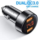 AINOPE Allumé Cigare USB, Dual QC3.0 Port 6A / 36W Chargeur alllume Cigare USB...