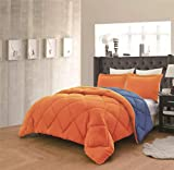 Empire Home Down Alternative Comforter Set - Overstock Sale (Orange & Navy, Queen)