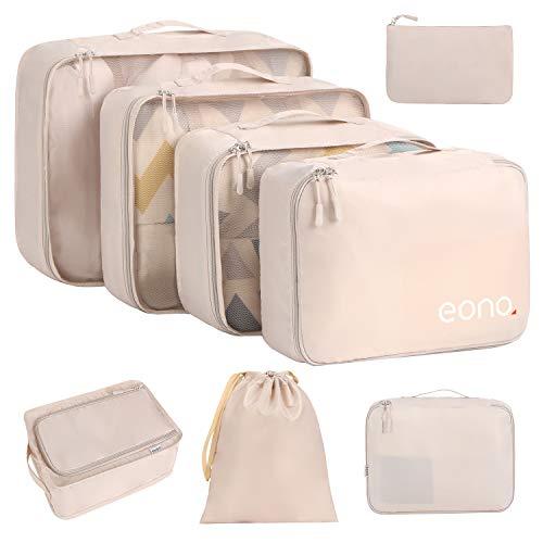 Eono by Amazon - Lot de 8 Sac Organiseurs de Bagage, Sacs Rangement de...
