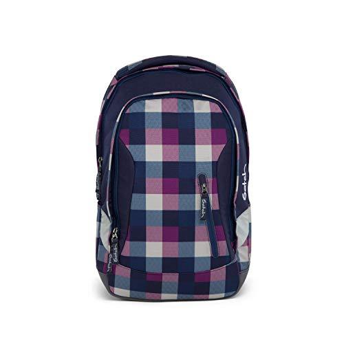 satch Sleek Berry Carry, ergonomischer Schulrucksack, 24 Liter, extra schlank, Lila/Blau
