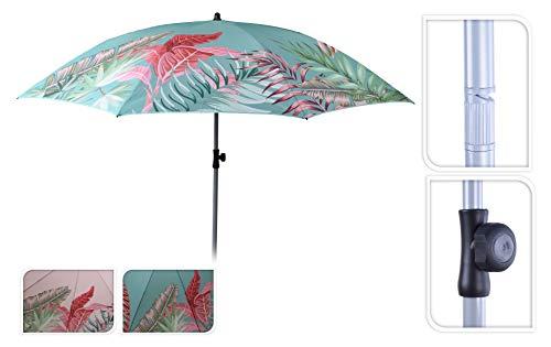 Meinposten. Sonnenschirm Strandschirm UV-Schutz 40+ Schirm Balkonschirm Ø 175 cm rosa türkis (Hellrosa)