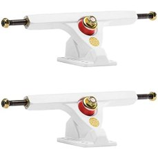 "Amazon.com : Caliber II Fifty Caliber 10""/50deg. White Gold Longboard Trucks (Set of 2) : Sports & Outdoors"