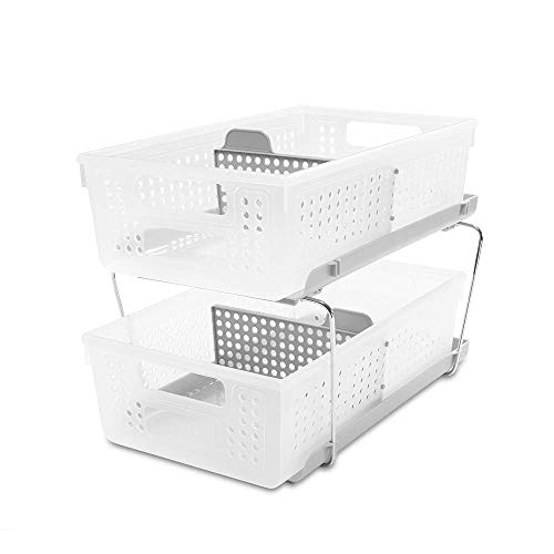 madesmart 2-Tier Organizer with Dividers - BATH COLLECTION...