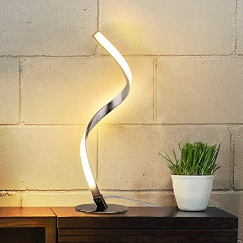 Albrillo Lampe de Table en Spirale, Lampe de Bureau LED incurée, 6W Lumière Blanc Chaud avec Cable de 1.5m