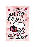 Flagology.com, Peanuts, Peanuts You are So Loved Snoopy – Garden Flag 12.5' x 18', Officially Licensed Peanuts, Valentine's Day