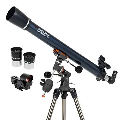 Celestron AstroMaster 70EQ 45x - Telescopio (91,4 cm, 8,16 kg, Acero)