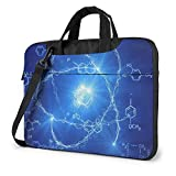 15.6″Durable Hombro Mensajero Bolsa maletín PC Modelo de química Moda Impermeable Ordenador Portátil/portátil/Tablets