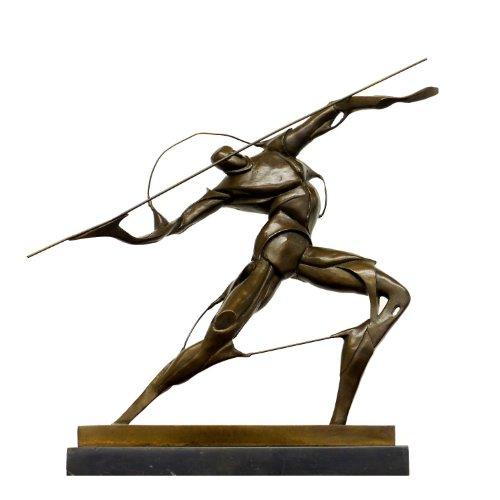 Statua in bronzo nello stile del Futurismo–Combattente con lancia–Firmato–Umberto...