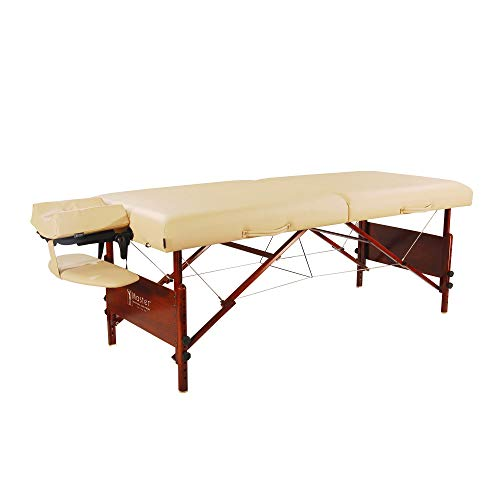 Master Massage 30' Del Ray Pro Portable Massage Table Package, Sand Color, Luxurious with 3' Thick Cushion of Foam