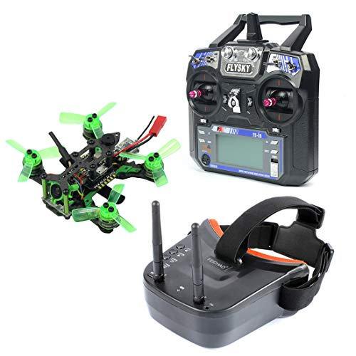 FEICHAO Mantis85 85mm RC FPV Micro Drone da Corsa RTF con 600TVL Camera VTX e Doppio Antenna Mini Occhiali Video