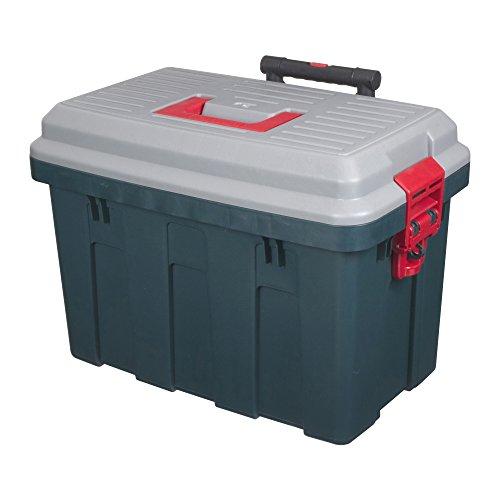 アイリスオーヤマ ボックス RVBOX キャリー 650 グレー/ダークグリーン 幅63×奥行44×高さ46cm