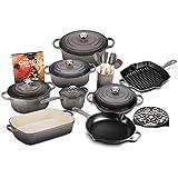 Le Creuset 20-piece Signature Cast Iron Cookware Set (Oyster)