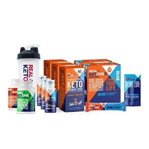 Real 30 Day Keto Starter Bundle Kit - Exogenous Ketone BHB Packets, BHB Pills, Multivitamins, 15 Urine Test Strips and 3 Energy Shot Drinks by Real Ketones™ 10 - My Weight Loss Today