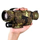 BOBLOV Digital Night Vision Monocular 5x8 Optics Scope Night Vision Infrared Monoculars with 16GB Card for Hunting Observe (P15 with 16G Card) (Camouflage)
