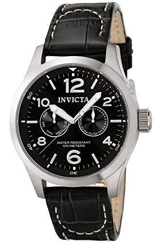 Invicta 0764 I-Force Herren Uhr Edelstahl Quarz schwarzen Zifferblat