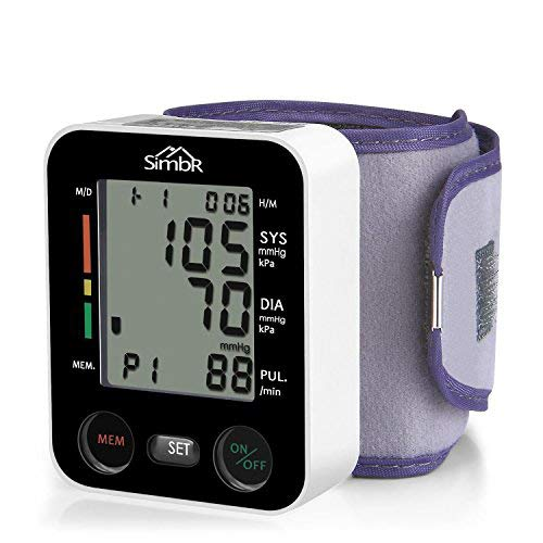 SIMBR Misuratore di Pressione da Polso,Sfigmomanometro da Polso Digitale,Monitor della Pressione...