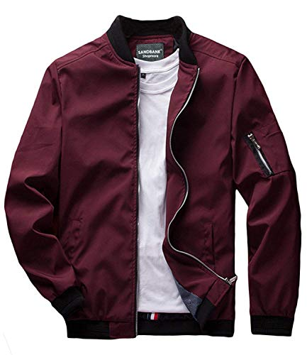 sandbank Men's Slim Fit Lightweight Softshell Flight Bomber...