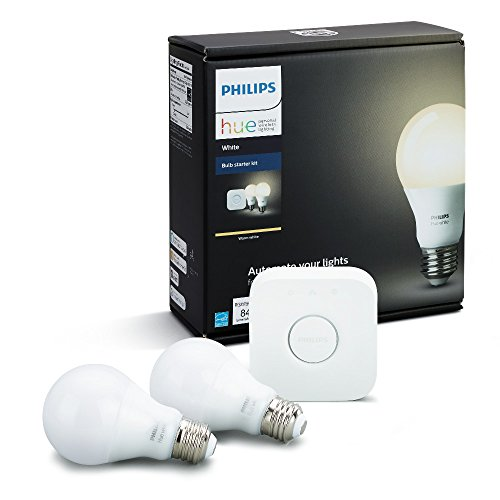 Philips Hue White A19 60W Equivalent Dimmable LED Smart...