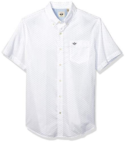 Dockers Men's Short Sleeve Button Down Comfort FLEX Shirt Dockers, Burke Grisaille, XL