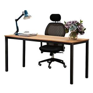 Need Computer Desk 63 inches Large Size Desk Gaming Desk Writing Desk with BIFMA Certification Workstation Office Desk,Teak Black AC3BB-160