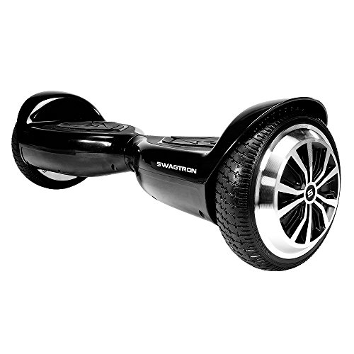 Smart Electric Self Balancing Hoverboard - 2018 Two Wheel Balance Hover Board Segway Scooter w/ Rechargeable Battery, Charger, Accessories, 8 MPH Max Speed, For Kids Adults - Hurtle PSCOOT33BK (Black)