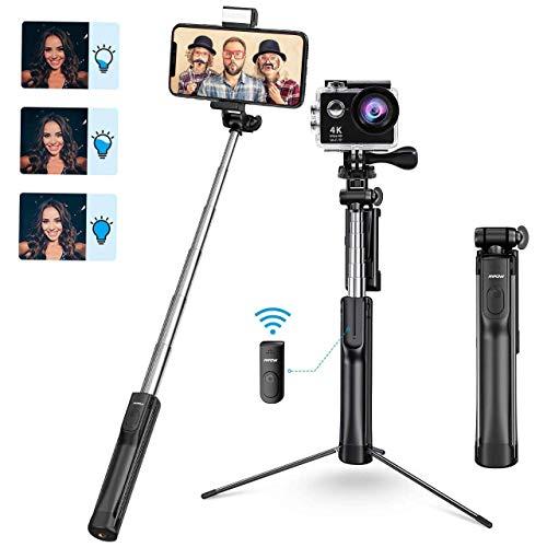 Mpow Perche Selfie Bluetooth, All en 1 Selfie Stick Trépied Bton de Selfie...