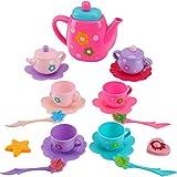 Liberty Imports Princess Royal Tea Set Pretend Playset - Kids Tea Party Play Food Accessories Kitchen Toy Teapot Gift Set for Girls (21-Piece)