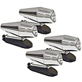 CITKOU 4Pcs Deer Whistles for Vehicles with Extra Bases Wind Activated (Chrome)
