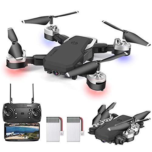 OBEST Drone con Fotocamera 1080P, Pixel 4K, Quadrotore di Volo Portatile da 20-24 Minuti, Dotato di 5 Milioni di Pixel HD, Rotazione a 360 , FPV Remoto, Foto Gestuali, Per Bambini e Adulti