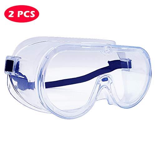 Schutzbrillen, Anti-Spucken Spritzen, Kontaktgläser, staubdicht, atmungsaktiv, multifunktionale geschlossene Schutzbrille 2PCS