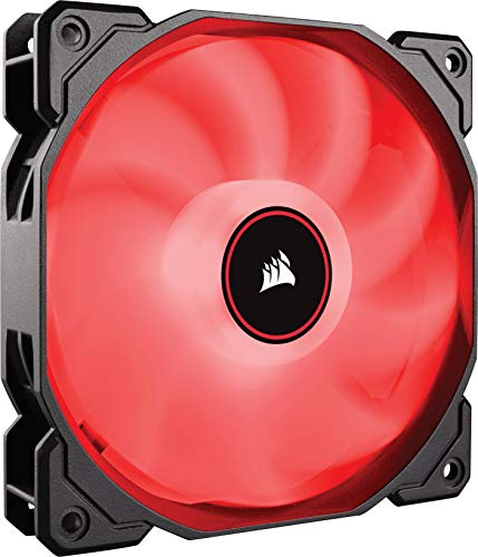 Corsair AF120 Air Series, 120 mm LED Low Noise Cooling Fan - Red (Single Pack)