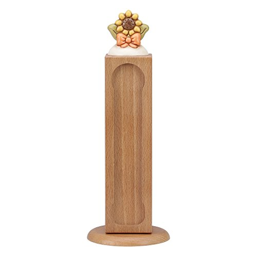 THUN  - Porta Capsule per Lavazza  con Girasole - Linea Country - Legno - h 42 cm