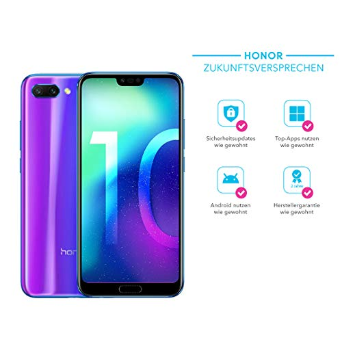 Honor 10 Smartphone (14,83 cm (5,84 Zoll), Full HD+ Touch-Display, 64GB interner...