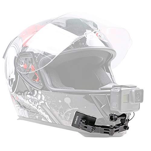 SUREWO Supporto per casco da moto, in alluminio, compatibile con GoPro Hero 7/(2018)/6/5 Black 5/4 Session, DJI Osmo Action e molto altro ancora