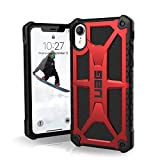 URBAN ARMOR GEAR UAG iPhone XR [6.1' Screen] Monarch Feather-Light Rugged [Crimson] Military Drop Tested iPhone Case