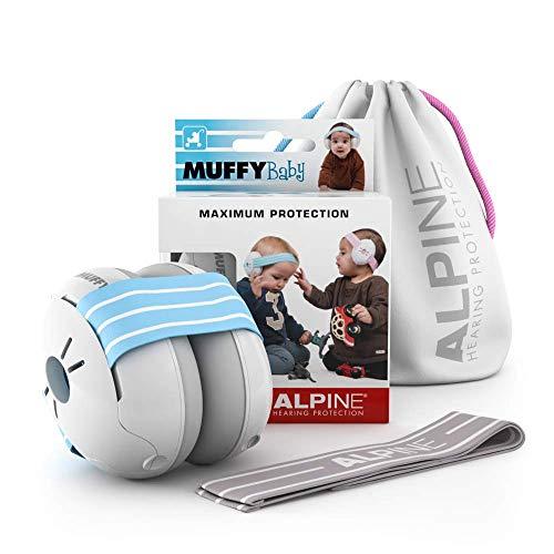 Alpine Muffy Baby Kapselgehörschützer Gehörschutz für Babys und Kleinkinder bis 36 Monate - Lärmschutz Verhindert Gehörschäden - Verbessert den Schlaf unterwegs - Bequeme Passform - Blau