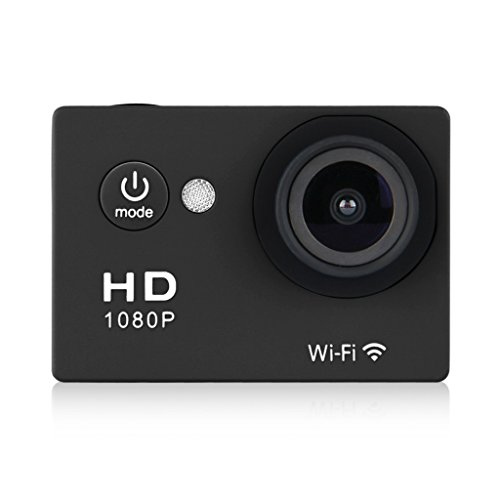 WIFI Y8 Action Sport Cam Waterproof/Impermeabile Full HD H264 1080p 12Mp Video Helmetcam Videocamera Subacquea (Nero)