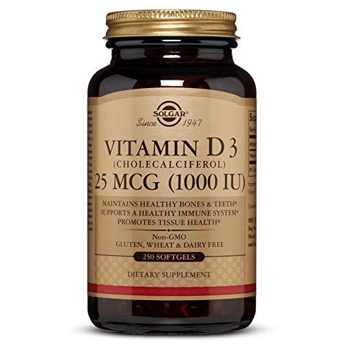 Solgar Natürliches Vitamin D3 (Cholecalciferol) 1000 IU 250 Softgels